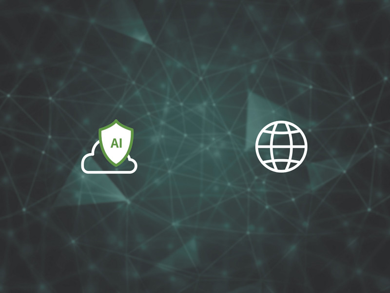 graphic of AI cloud and a globe